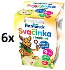 Hamánek Svačinka s hruškami 100% ovoce 6x(2x130g)