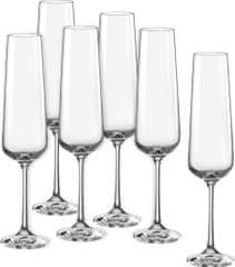 Crystalex poháre na sekt Sandra 200 ml, 6 ks