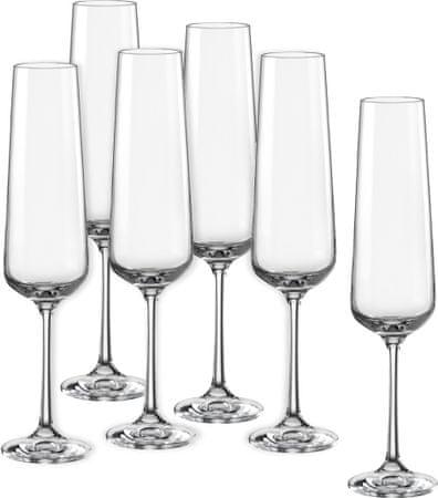 Crystalex čaše za šampanjac Sandra, 200 ml, 6 kom
