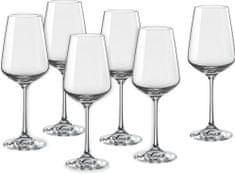 Crystalex poháre na víno Sandra 250 ml, 6 ks