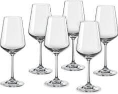 Crystalex kozarci za vino Sandra, 350 ml, 6 kosov