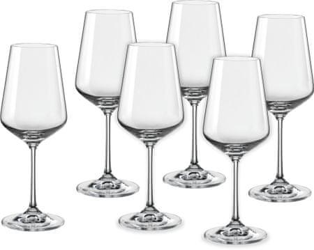 Crystalex čaše za vino Sandra, 350 ml, 6 kom