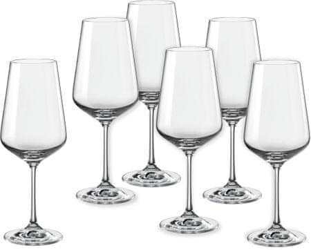 Crystalex kozarci za vino Sandra, 450 ml, 6 kosov