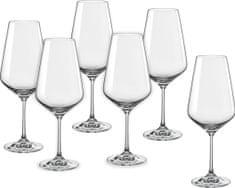 Crystalex kozarci za vino Sandra, 550 ml, 6 kosov