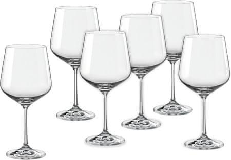 Crystalex čaše za vino Sandra, 570 ml, 6 kom