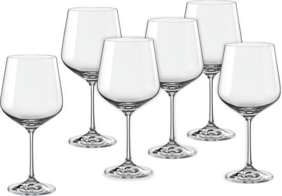 Crystalex poháre na víno Sandra 570 ml, 6 ks