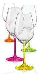 Crystalex kozarci za vino neon, 350 ml, 4 kosi