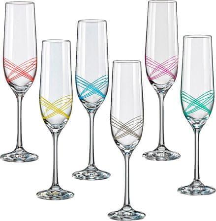 Crystalex sklenice na sekt Ellipse 190 ml, 6 ks
