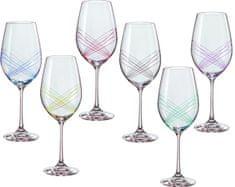 Crystalex poháre na víno Ellipse 350 ml, 6 ks