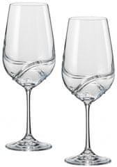 Crystalex poháre na víno Turbulence 350 ml, 2 ks