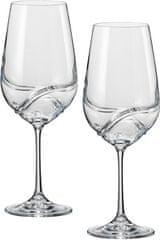 Crystalex kozarci za vino Turbulence, 550 ml, 2 kosa