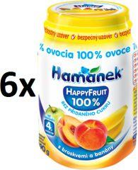 Hamánek Happy Fruit őszibarackkal és banánnal 6x190g