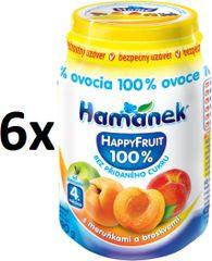 Hamánek Happy Fruit s meruňkami a broskvemi 6x190g