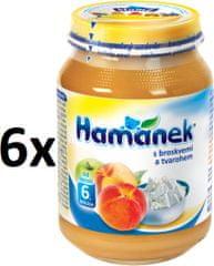 Hamánek S broskyňami a tvarohom 6x190g