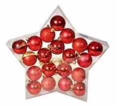 EverGreen Sada gulí Star červená, 20 ks