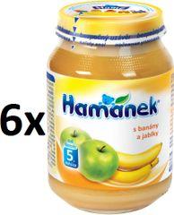 Hamánek S banány a jablky 6x190g