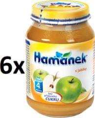 Hamánek S jablky neslazeno 6x180g