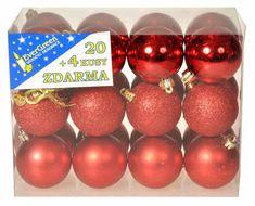EverGreen Sada gulí 3 dekory 24 ks červená