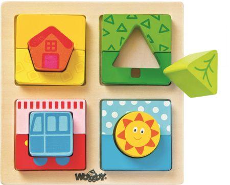 Woody plošča za sestavljanje Sončni dom
