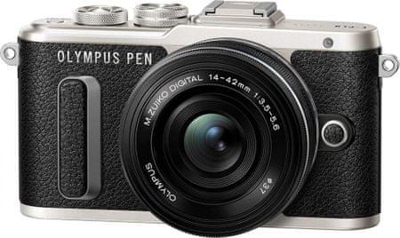OLYMPUS E-PL8 + 14-42 EZ Fényképezőgép, Fekete