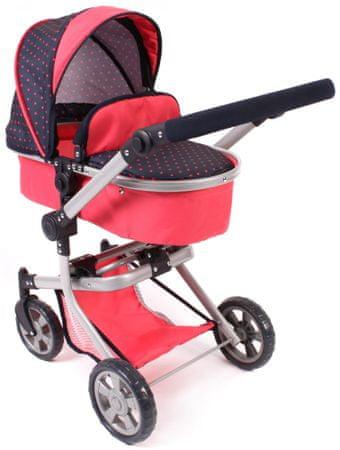 Bayer Chic Składany wózek dla lalek Mika, czerwono-czarny