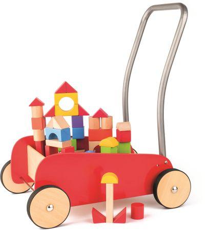 Woody Kiskocsi fa építőkockákkal