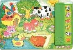 Woody Puzzle muzyczne zielone - zwierzątka