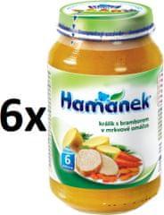 Hamánek Králik so zemiakmi v mrkvovej omáčke 6x230g