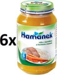 Hamánek Ryža s mrkvou a hovädzím mäsom 6x230g