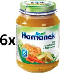 Hamánek Kuře se zeleninou a bramborami 6x190g