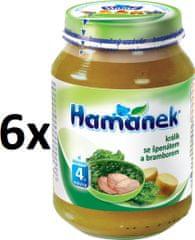 Hamánek Králík se špenátem a bramborami 6x190g