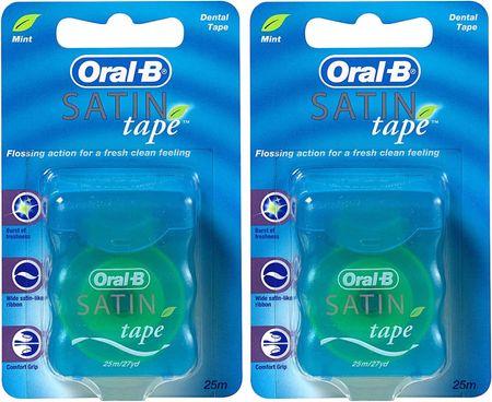 Oral-B zobni trak Satin Tape Mint, 2 x 25 m