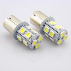 M-LINE žarnica LED 12V P21W BA15S 13xSMD 5050, bela, par