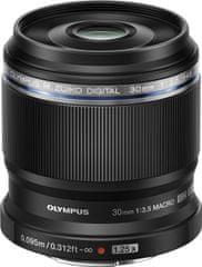 Olympus objektiv 30 mm 1:3.5, črn