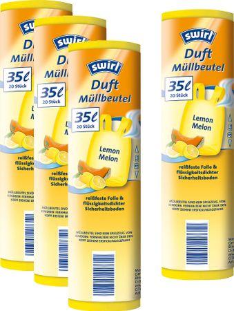 Swirl Pack 4x Voňavé sáčky na odpad s uchy s vůní Citron/Meloun 35l/20ks