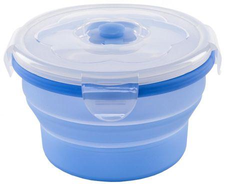 Nuvita Összehajtható tároló, Szilikon, Kék, 540 ml