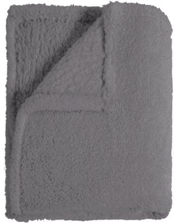Mistral Home futrzany koc Sherpa, szary 130x170 cm