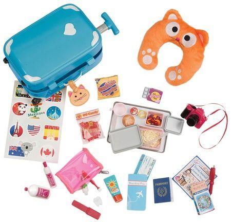 Our Generation Játék utazó bőrönd kiegészítőkkel