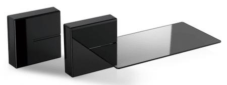 Meliconi modularni sistem za prekrivanje kablov Ghost Cube s polico, črn