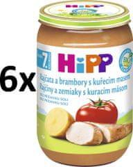 HiPP BIO Paradajky a zemiaky s kuracím - 6x220g