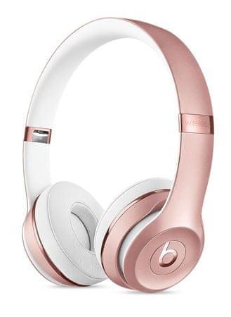 Beats Solo3 Wireless bezdrátová sluchátka růžově zlatá (MNET2EE/A)