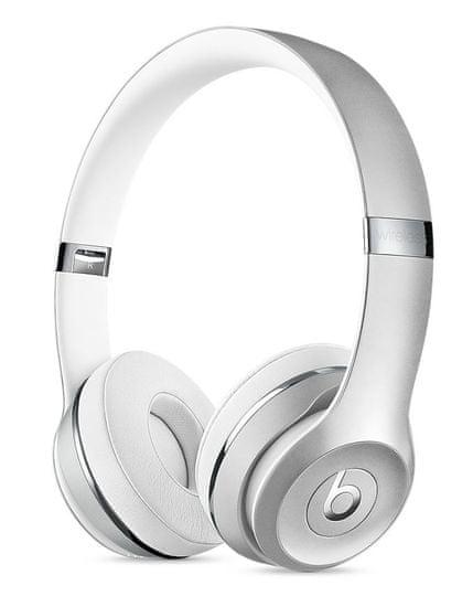 Beats Solo3 Wireless bezdrátová sluchátka stříbrná (MNEQ2EE/A)