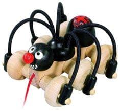 DETOA Czarny pająk na sznurku