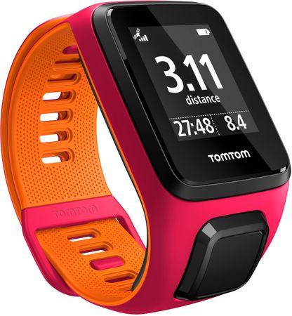"""TomTom """"Runner 3 Cardio + Music GPS, pink/orange, """"""""S"""""""" - rozbaleno"""""""