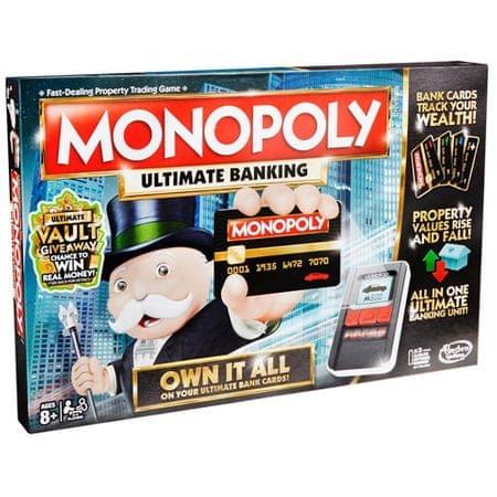 HASBRO Monopoly teljes körű bankolással családi Társasjáték - Magyar nyelvű