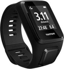 "TomTom Spark 3 Cardio + Music GPS, black, ""L"" + Bluetooth sluchadlá - rozbalené"
