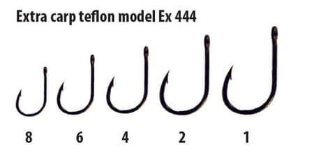 Extra Carp háčky teflon série EX 444 ( 10ks v balení) 8