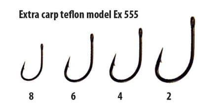 Extra Carp háčky teflon série EX 555 ( 10ks v balení) 2