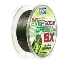Asso Šňůra Evergreen 8-Braid Mechově Zelená 130 m