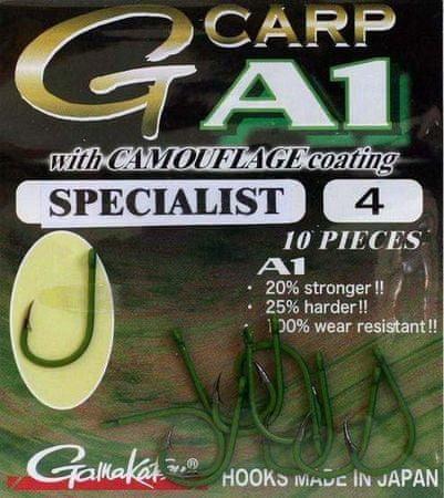 Gamakatsu Háčiky G-Carp Specialist CAMOU A1 10ks 8